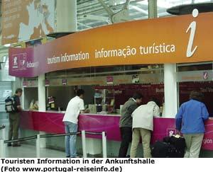 Touristen Information Schalter Lissabon Flughafen