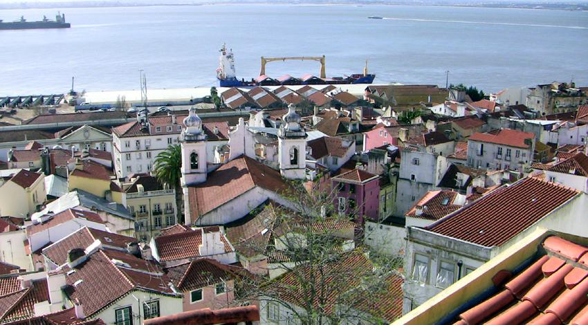 Alfama Aussichtspunkt Miradouro de Santa Luzia