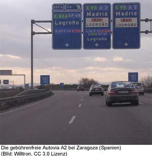 autobahn spanien portugal gebühr
