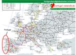 Schienennetz Bahn Portugal Anreise
