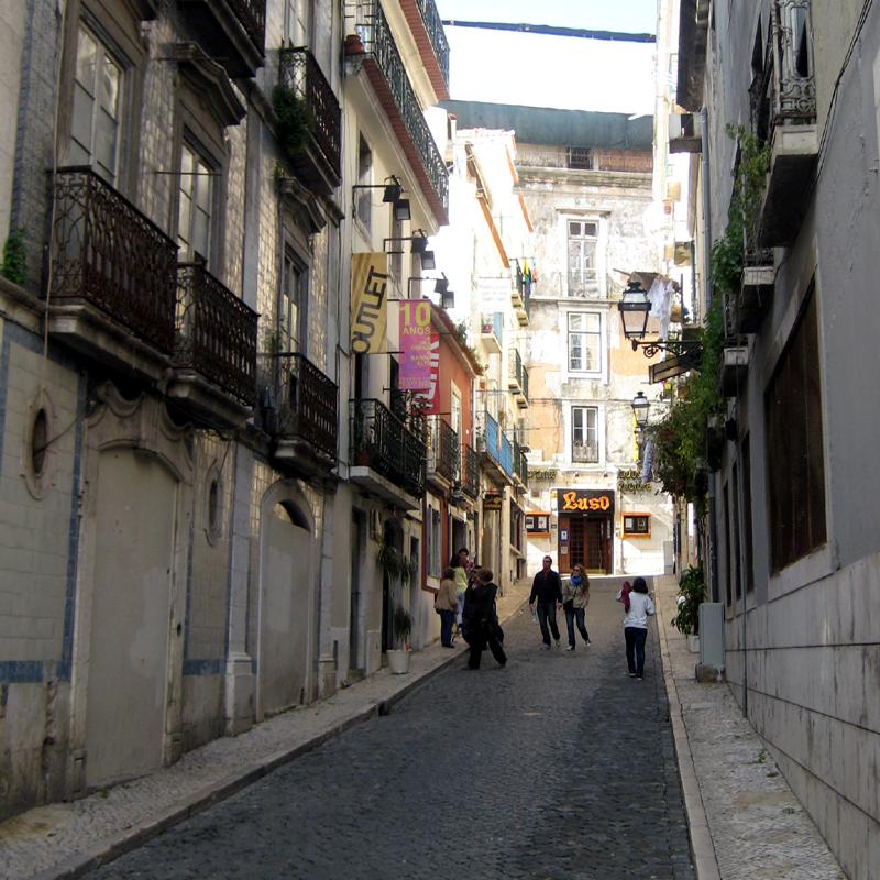 Bairro Alto Altstadtviertel Spazieren