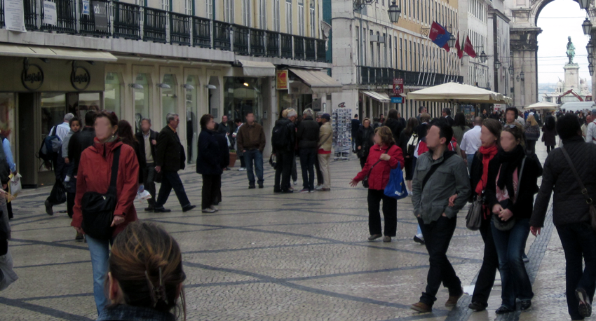 Baixa Lissabon Innenstadt
