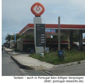 Benzinpreis, Dieselpreis, Portugal
