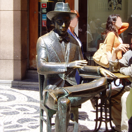Chiado Fernando Pessoa Café A Brasileira Sehenswürdigkeit