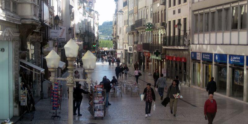 Coimbra Sightseeing spazieren