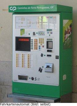 Fahrkarte Preis Ticket Kosten Portugal Automat online