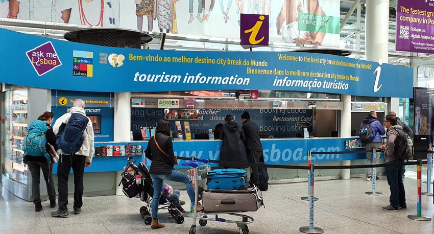 Flughafen Lissabon Ankuft Touristeninformation
