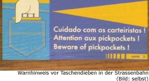 Gefahr Taschendieb Kriminalität