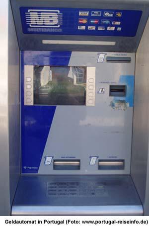 Geldautomat Portugal Gebühr