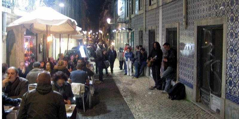 Kneipenviertel Lissabon