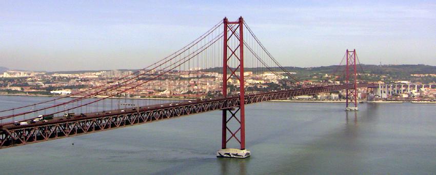 Brücke Fähre Tejo