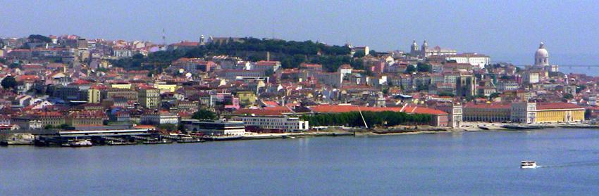Fähre Sightseeing Blick Lissabon