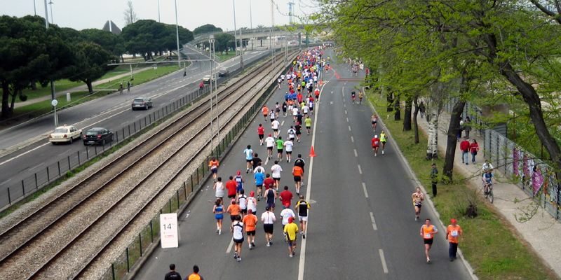 Lissabon Halbmarathonlauf Event