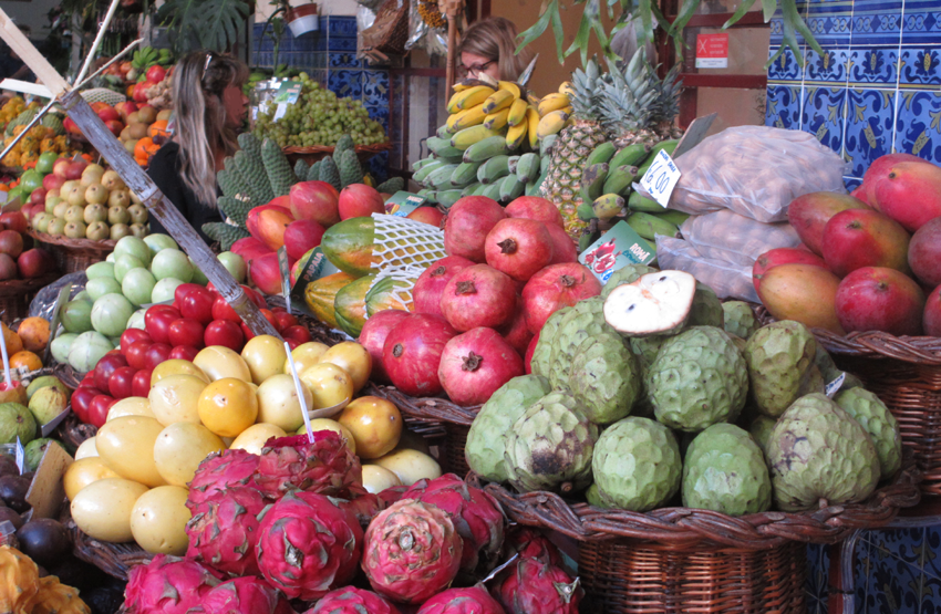 Madeira einkaufen Markt Essen