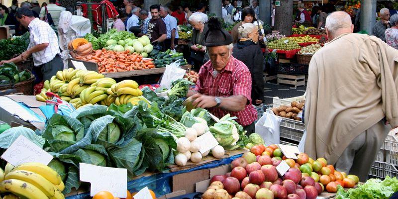 Madeira Essen Markt Obst
