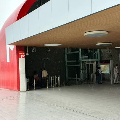 Flughafen Lissabon Metro Haltestelle