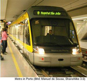 Nahverkehr Metro Portugal Bus Ticket Streckennetz Plan