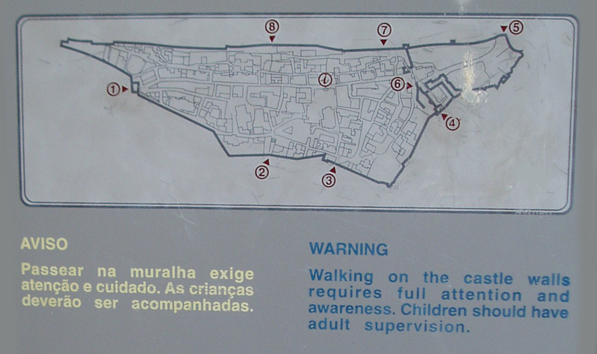 Sightseeing Óbidos Karte Spaziergang