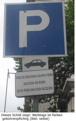 Parkplatz, Lissabon, Parkhaus, Tipps