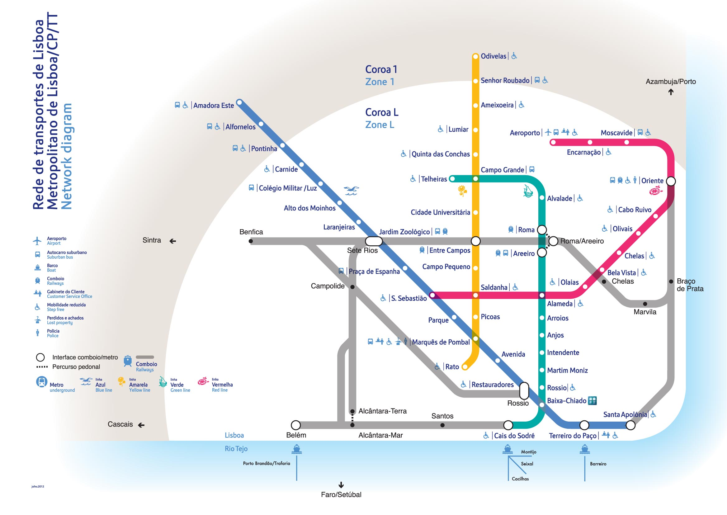 Subway Map Lisbon Pdf.Nahverkehr In Lissabon Tipps Karten Preise 2019 Reisefuhrer