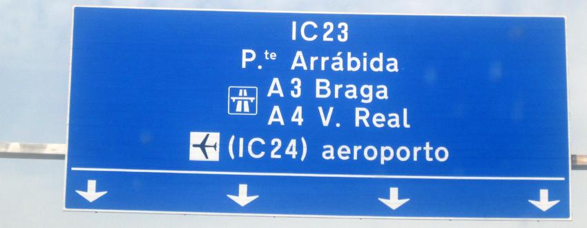 Flughafen Porto Strasse Auto Parken