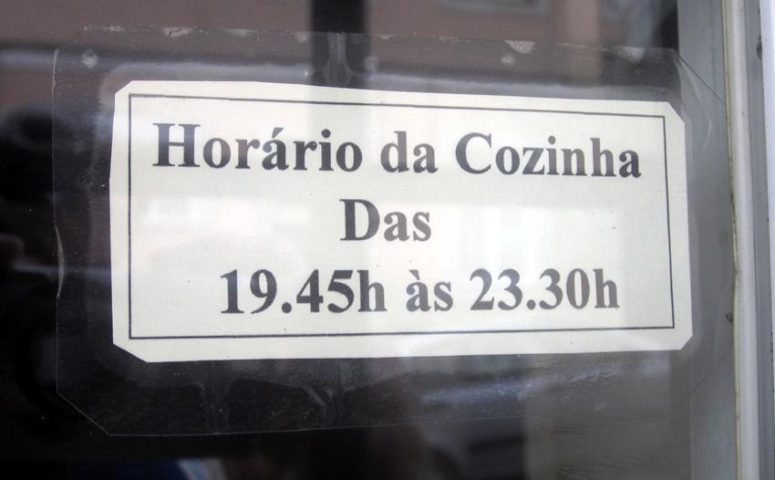 Restaurant Portugal Missverständniss Küche warme