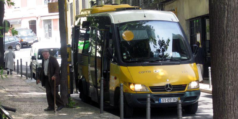 Bus, Omnibus, Linie, Haltestelle, Lissabon