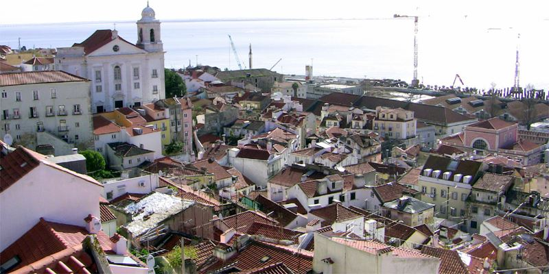 stadtviertel in lissabon bersicht karte portugal. Black Bedroom Furniture Sets. Home Design Ideas