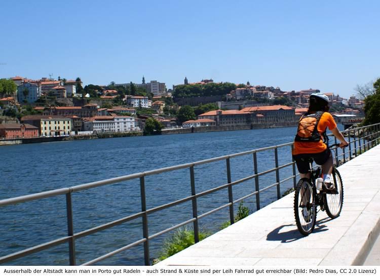 Porto Strand Fahrrad Mieten Strecke Radweg