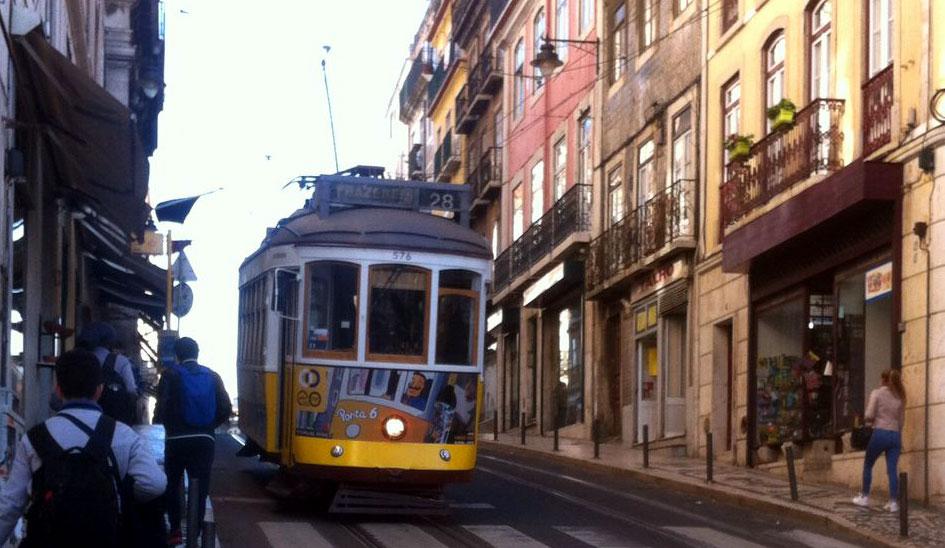 Straßenbahn 28 Lissabon Altstadt