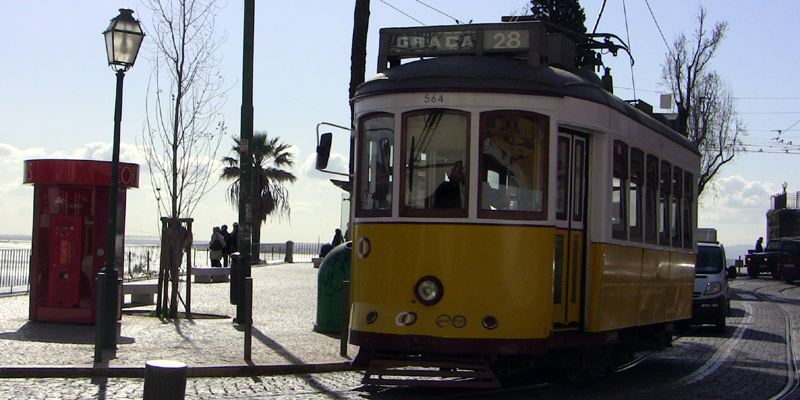 Straßenbahn 28E Electrico Lissabon Sightseeing