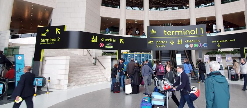 FLughafen Lissabon Terminal 1 Terminal 2