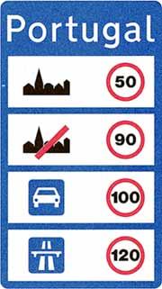 Auto fahren, Portugal, Verkehrsregeln, Warnweste, Geschwindigkeitslimit