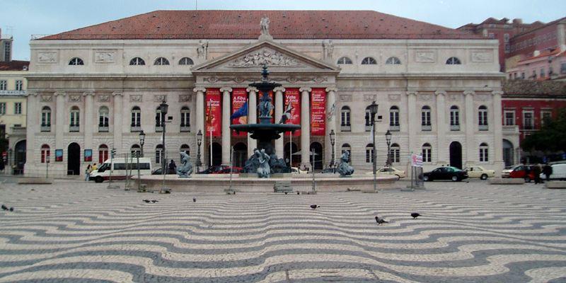 Rossio Platz Lissabon