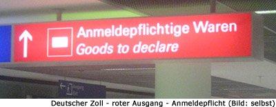 Zollkontrolle Deutschland